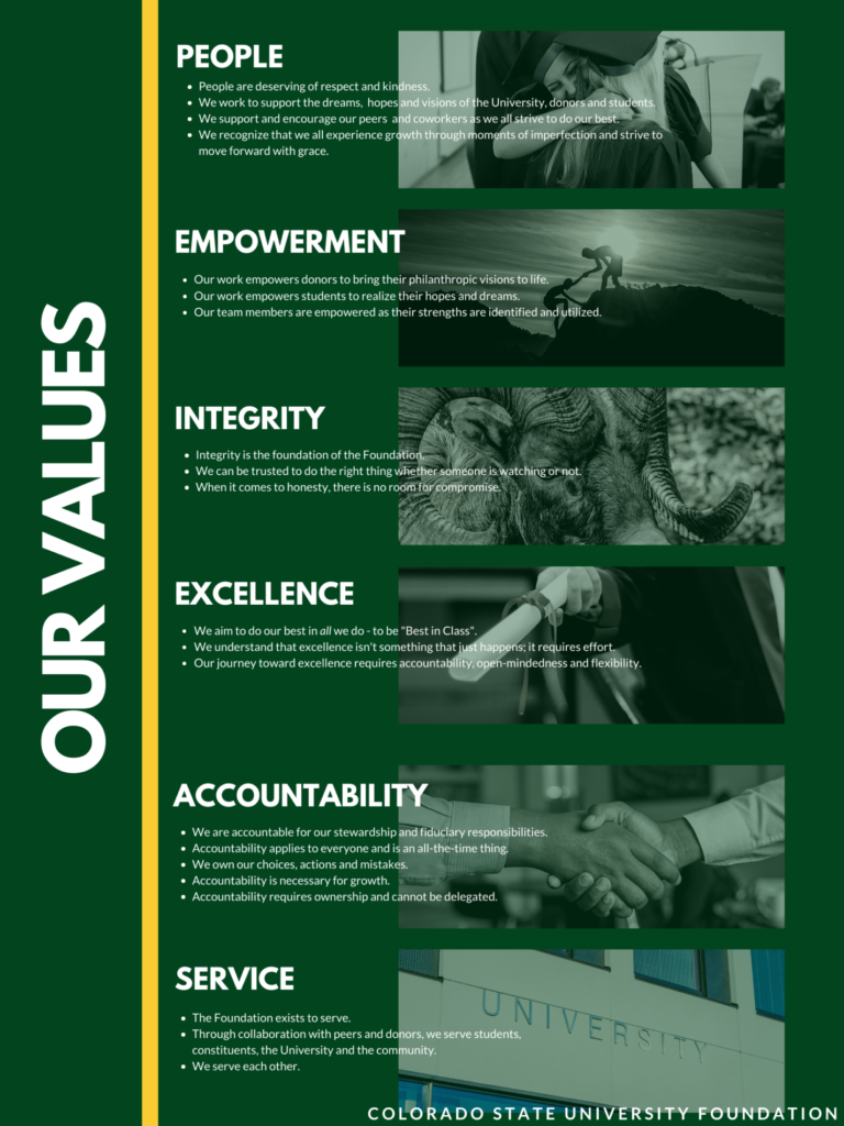 Photo of CSUF Values